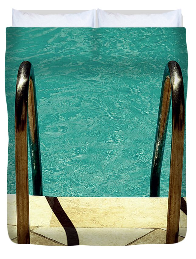 Pool Duvet Cover featuring the photograph Swimming Pool by Joana Kruse