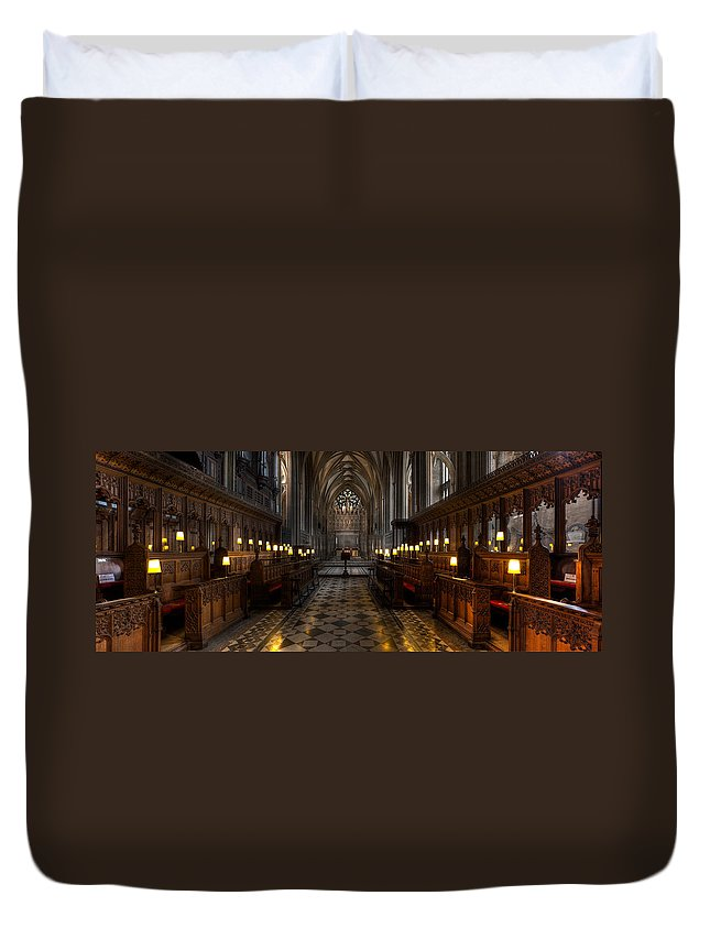 Architecture Duvet Cover featuring the photograph The Altar by Adrian Evans