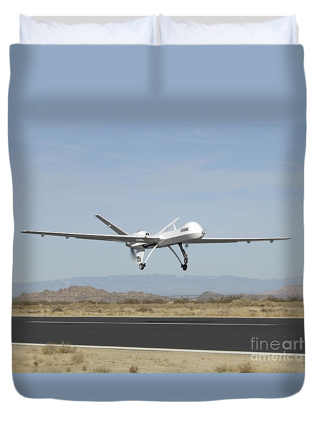 Aeronautics Duvet Cover featuring the photograph The Ikhana Unmanned Aircraft by Stocktrek Images