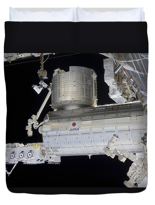 Logistics Duvet Cover featuring the photograph The Japanese Experiment Module Kibo by Stocktrek Images