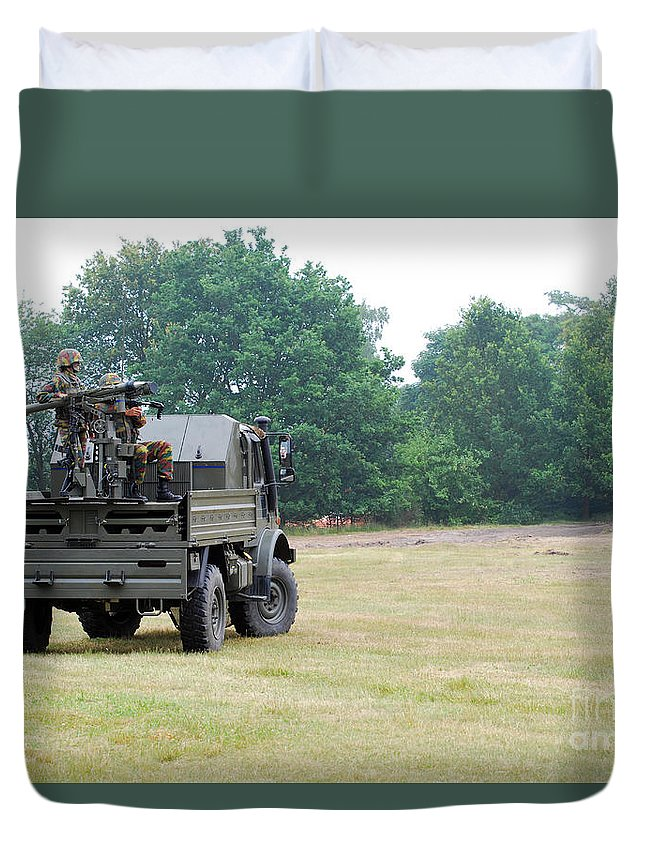 Military Duvet Cover featuring the photograph The Mistral Infrared Surface-to-air by Luc De Jaeger