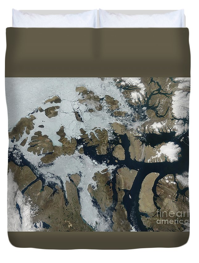 Canada Duvet Cover featuring the photograph The Queen Elizabeth Islands by Stocktrek Images