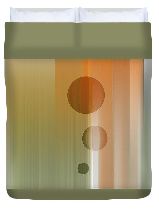 Abstract Duvet Cover featuring the digital art Thinking by Are Lund
