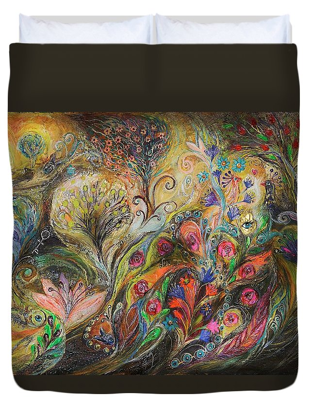 Judaica Duvet Cover featuring the painting Under The Wind by Elena Kotliarker