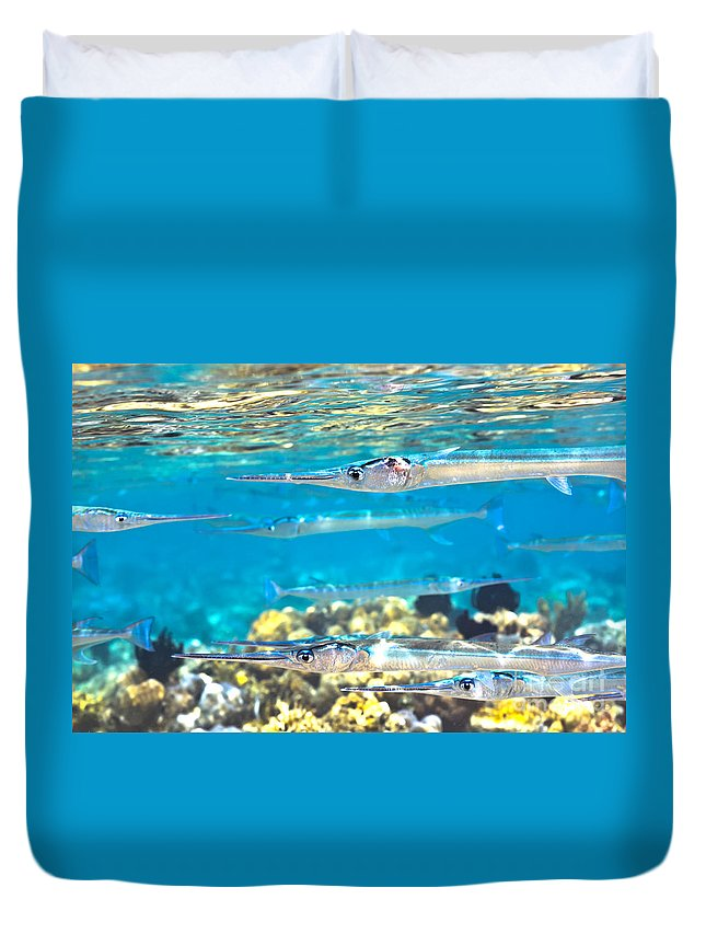 Underwater Duvet Cover featuring the photograph Underwater by MotHaiBaPhoto Prints