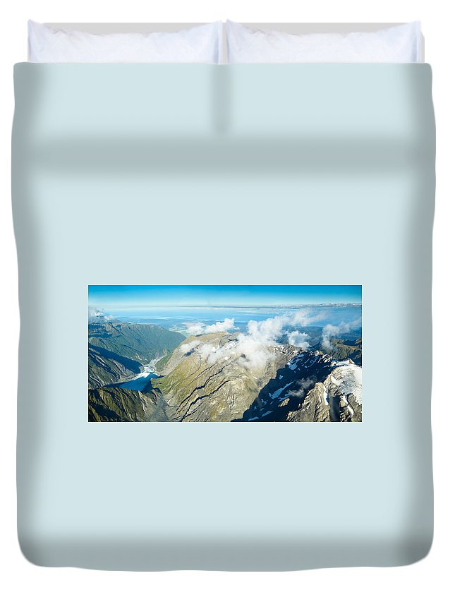 Alps Duvet Cover featuring the photograph View On To Fox Glacier In South New Zealand by U Schade