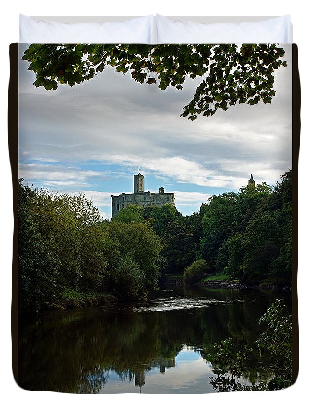 Warkworth Castle Duvet Cover featuring the photograph Warkworth Castle by David Pringle