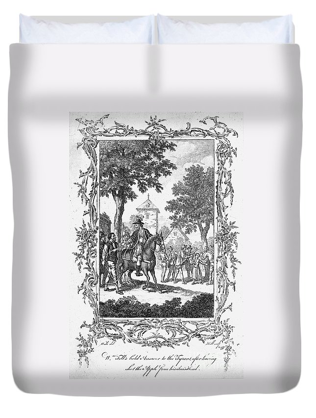 16th Century Duvet Cover featuring the photograph William Tell by Granger
