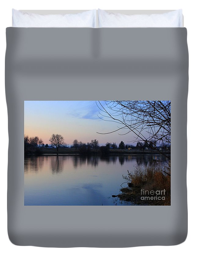 Winter Duvet Cover featuring the photograph Winter Calm by Carol Groenen