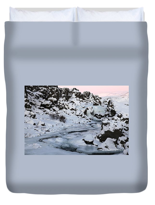 Iceland Duvet Cover featuring the photograph Winter by Milena Boeva