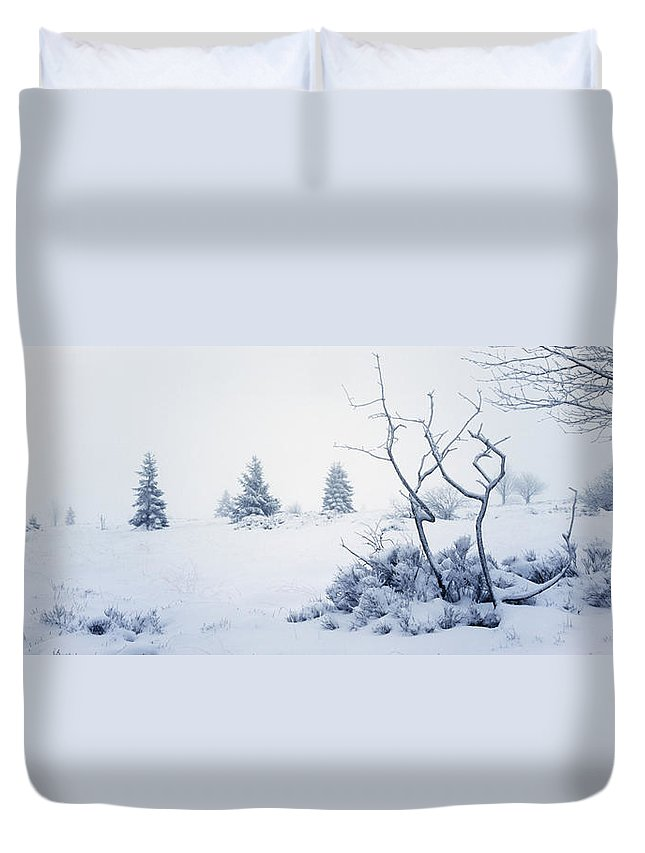 Moorland Duvet Cover featuring the photograph Winter On The Moor by Ulrich Kunst And Bettina Scheidulin