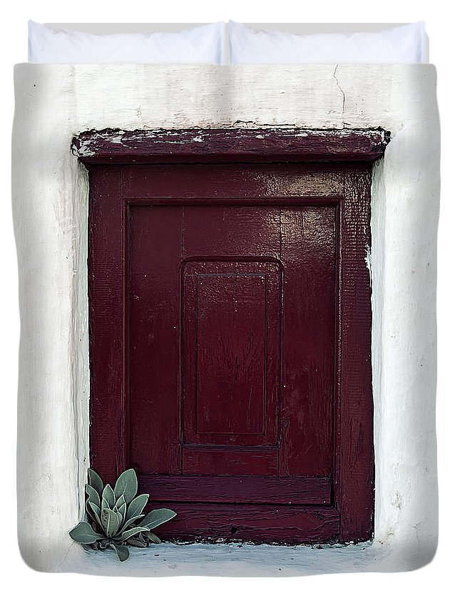 Window Duvet Cover featuring the photograph Wooden Window by Joana Kruse