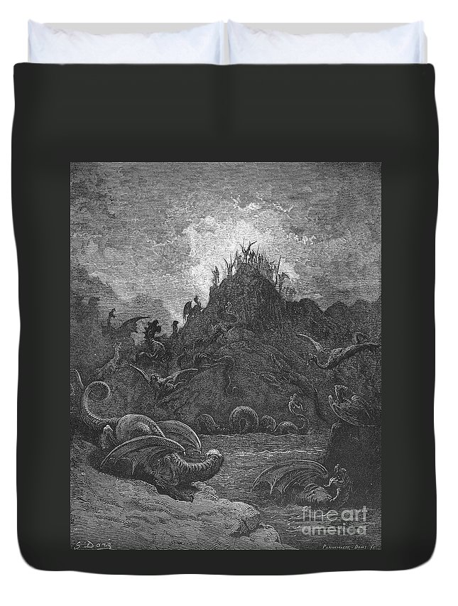 Book Duvet Cover featuring the photograph Milton: Paradise Lost by Granger