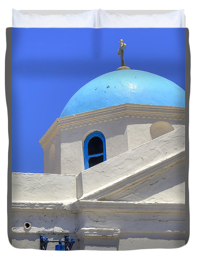 Agios Nikolaos Tis Kadenas Duvet Cover featuring the photograph Mykonos by Joana Kruse