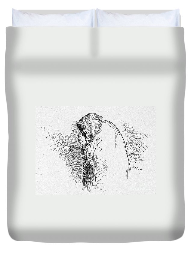 16th Century Duvet Cover featuring the photograph Shakespeare: Richard IIi by Granger