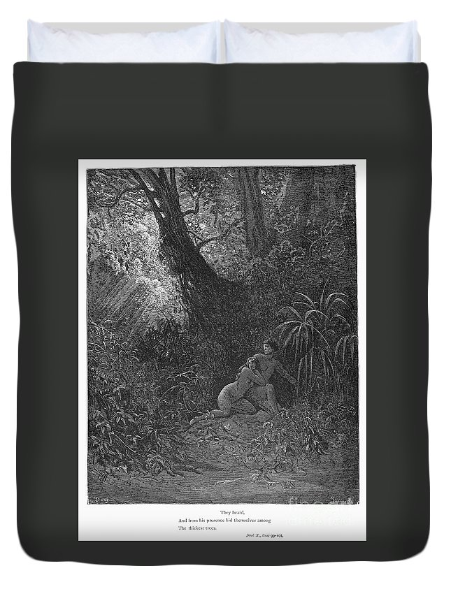 19th Century Duvet Cover featuring the photograph Milton: Paradise Lost by Granger