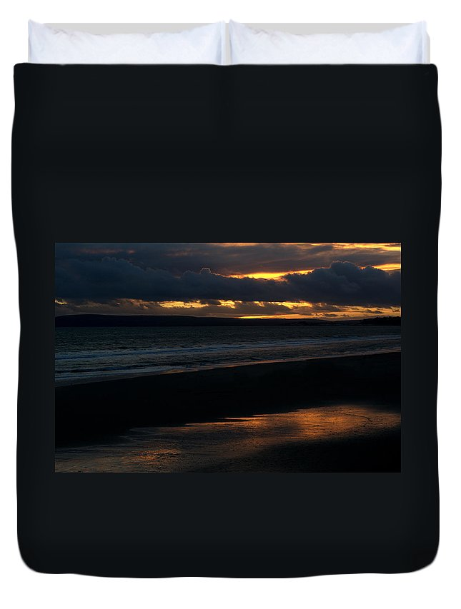 Sunset Duvet Cover featuring the photograph Bournemouth Sunset by Chris Day