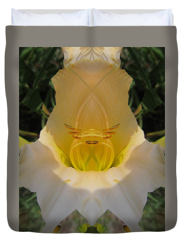 Color Blend Duvet Cover featuring the digital art Lily Fantasy by Michele Caporaso