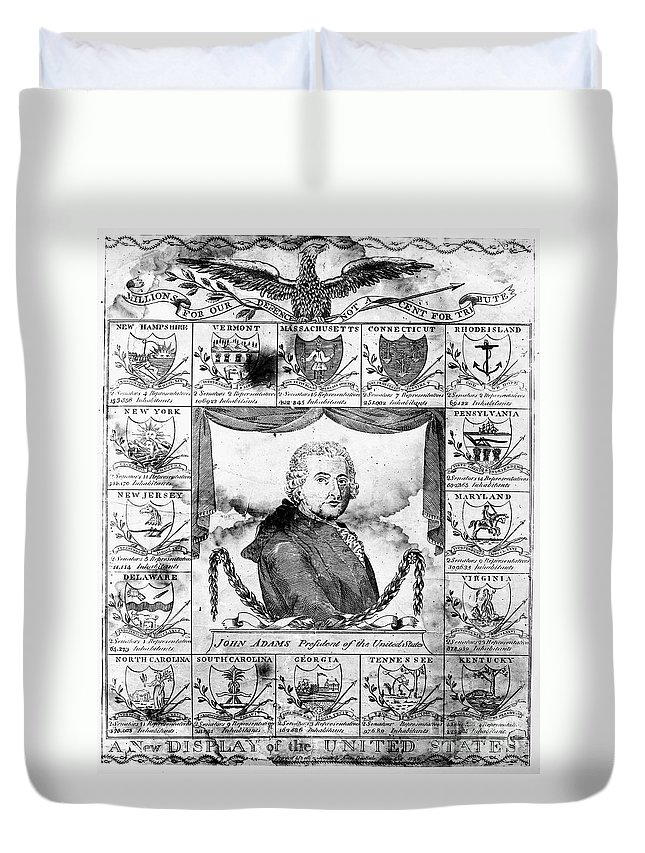 1799 Duvet Cover featuring the photograph John Adams (1735-1826) by Granger