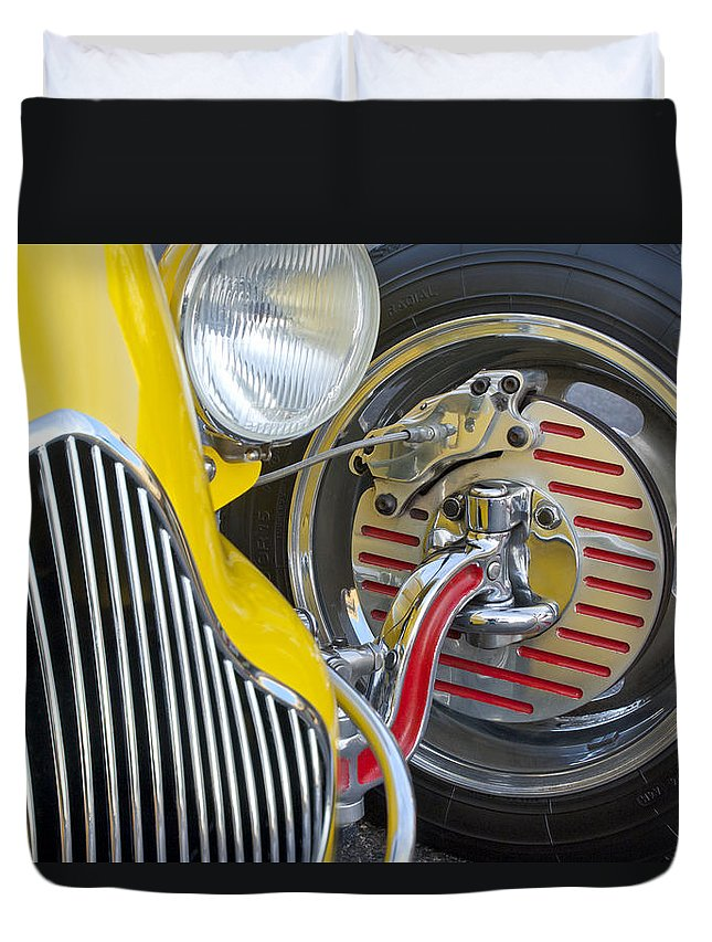 1929 Ford Model A Roadster Duvet Cover featuring the photograph 1929 Ford Model A Roadster Wheel by Jill Reger