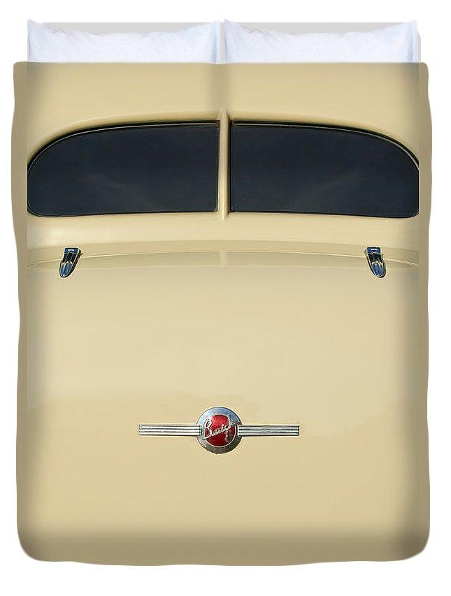 1936 Buick 40 Series Duvet Cover featuring the photograph 1936 Buick 40 Series Rear Emblem by Jill Reger