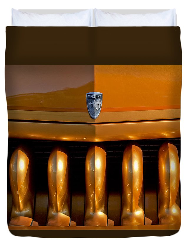 1951 Mercury Duvet Cover featuring the photograph 1951 Mercury Hot Rod Grille by Jill Reger