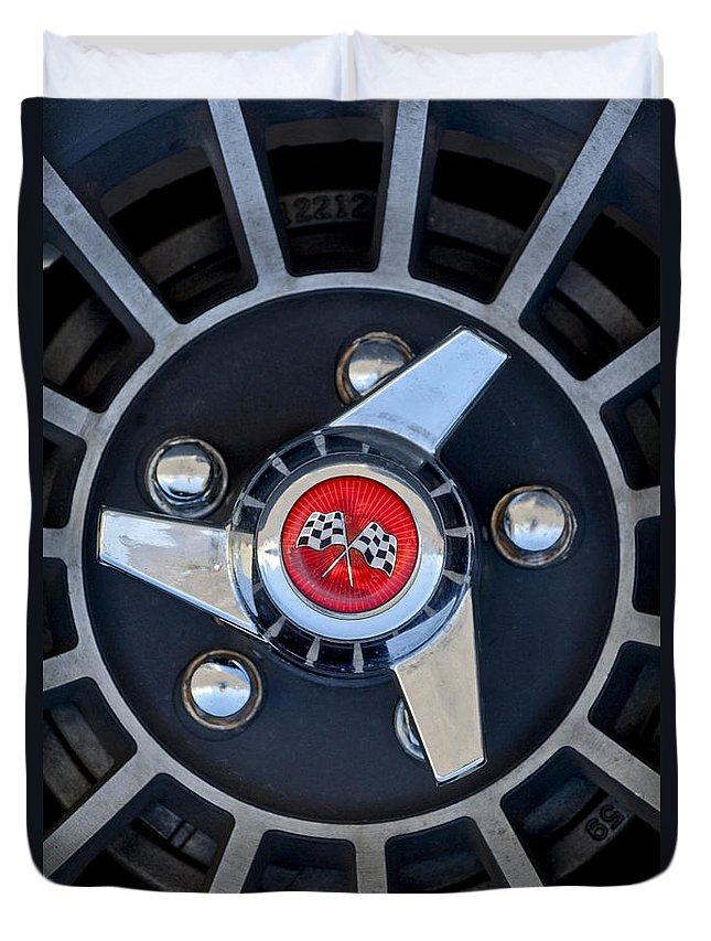 1955 Chevrolet Truck Duvet Cover featuring the photograph 1955 Chevrolet Truck Wheel Rim by Jill Reger