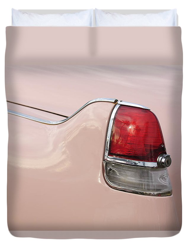 1956 Cadillac Duvet Cover featuring the photograph 1956 Cadillac Taillight by Jill Reger