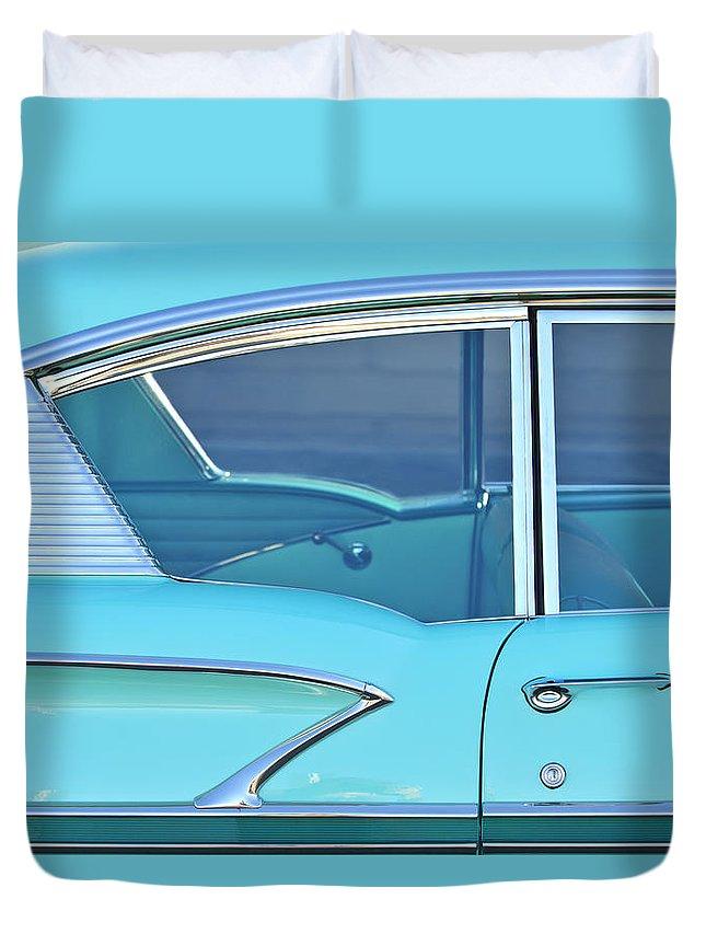 1958 Chevrolet Belair Duvet Cover featuring the photograph 1958 Chevrolet Belair by Jill Reger