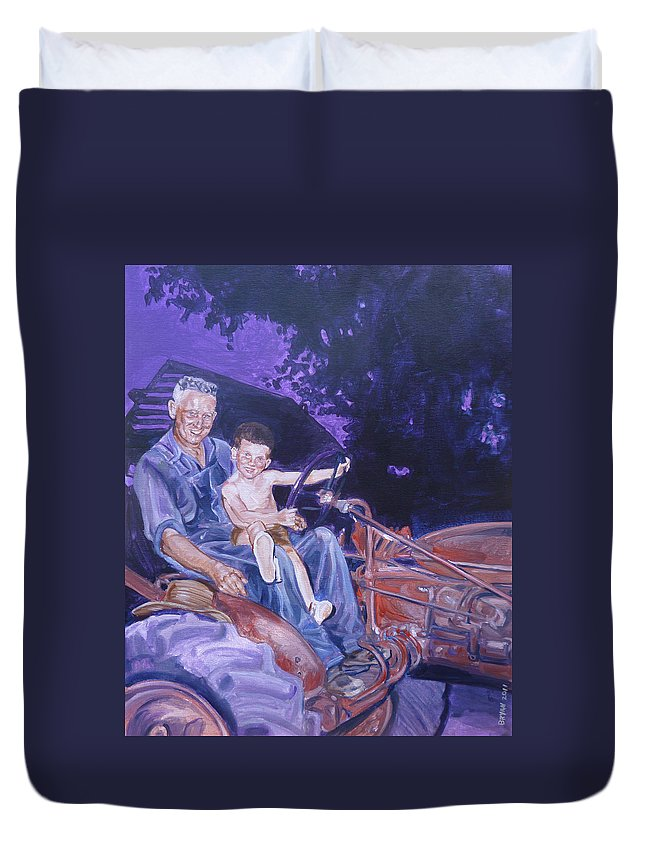 Granddaddy Duvet Cover featuring the painting 1962 by Bryan Bustard