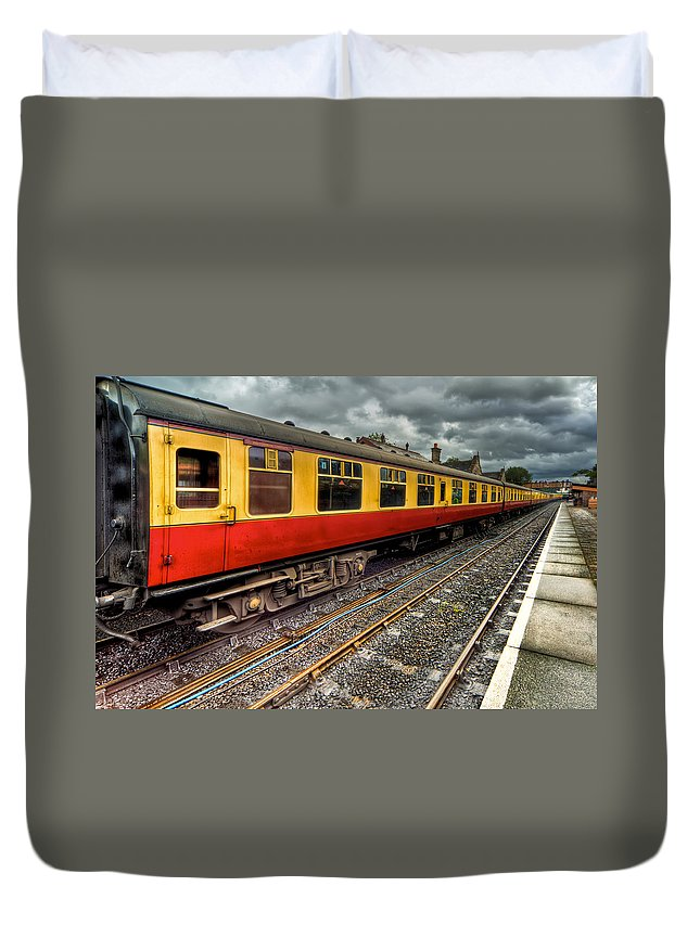 Railway Duvet Cover featuring the photograph 1963 Carriage by Adrian Evans