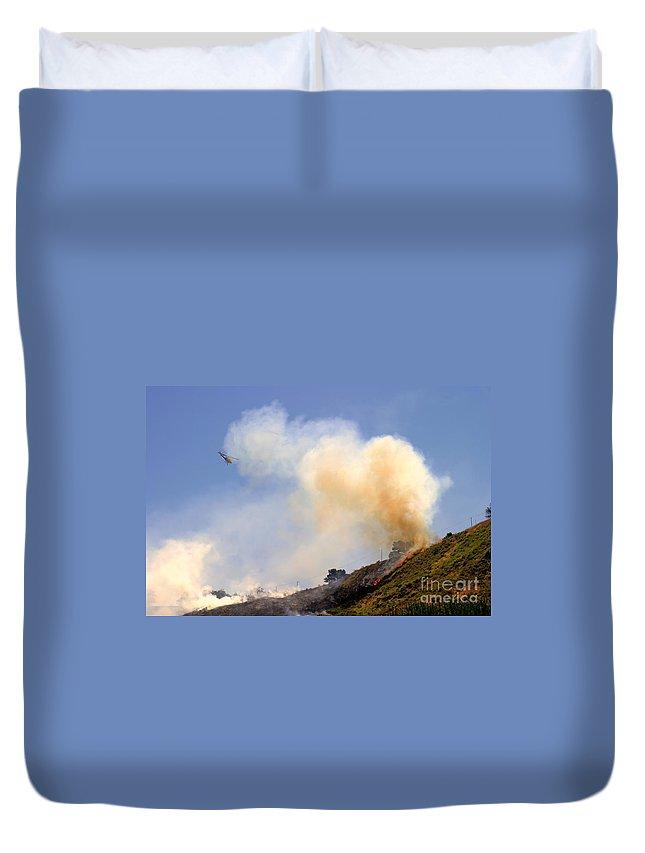 Ash Duvet Cover featuring the photograph Barnett Fire by Henrik Lehnerer