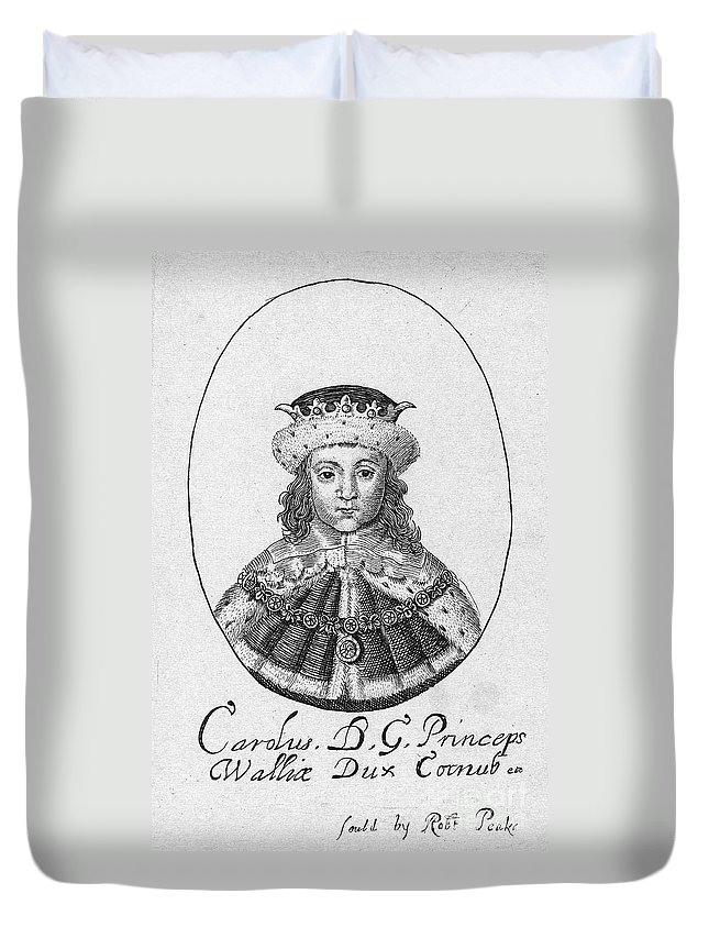 1610 Duvet Cover featuring the photograph Charles I (1600-1649) by Granger