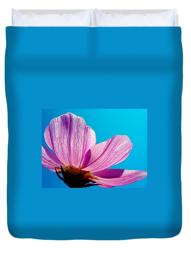 Flower Duvet Cover featuring the photograph Cosmia Flower by Sumit Mehndiratta