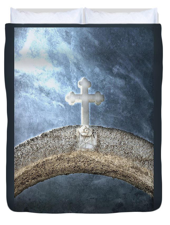 Cross Duvet Cover featuring the photograph Cross by Joana Kruse