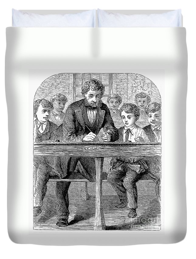 19th Century Duvet Cover featuring the photograph Elementary School by Granger