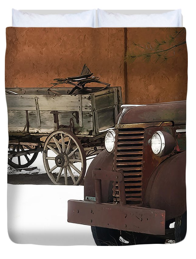 Truck Duvet Cover featuring the photograph Even Older by Terry Fiala