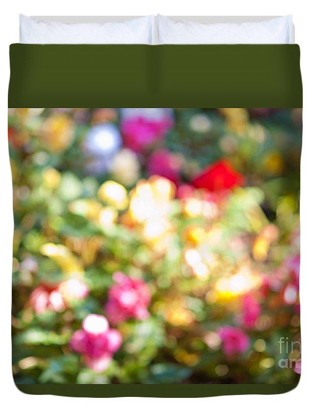 Flower Duvet Cover featuring the photograph Flower Garden In Sunshine by Elena Elisseeva