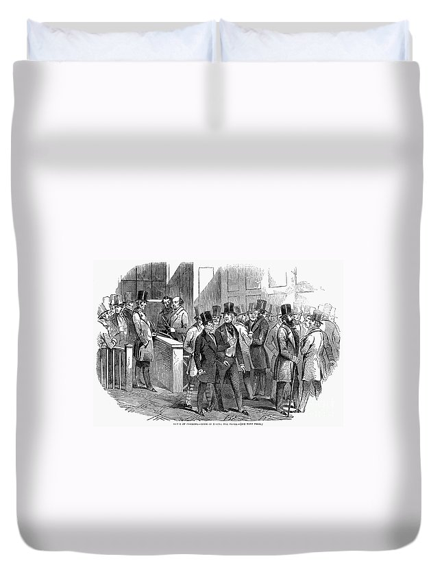 1849 Duvet Cover featuring the photograph Great Britain: Parliament by Granger