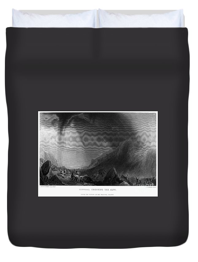 1812 Duvet Cover featuring the photograph Hannibal (247-183 B.c.) by Granger