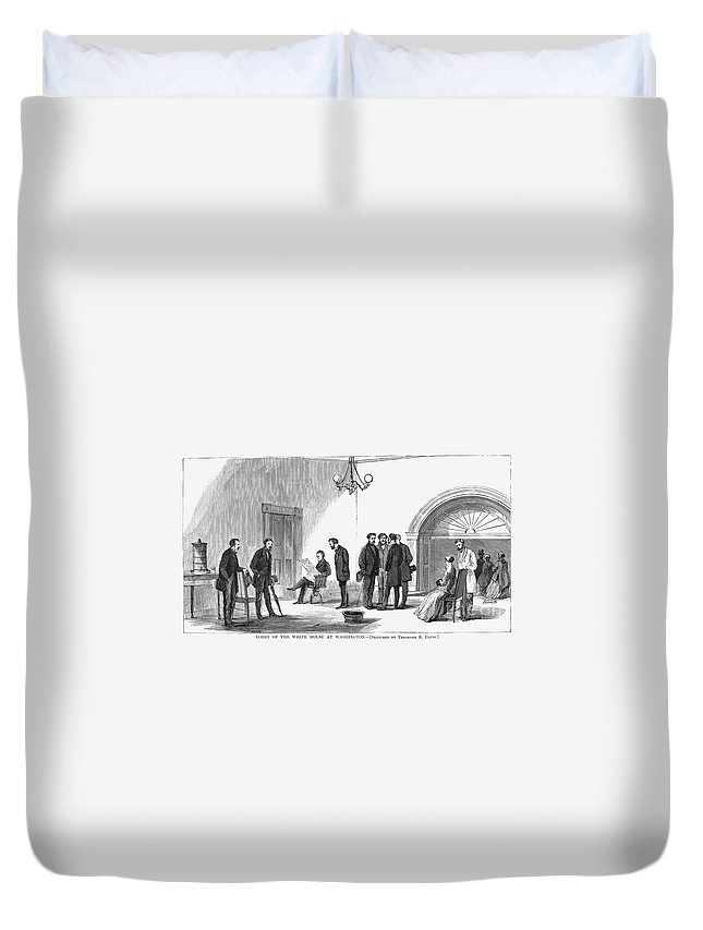 1868 Duvet Cover featuring the photograph Johnson Impeachment Trial by Granger