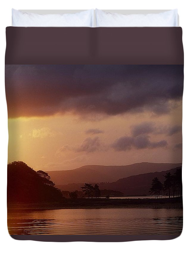 Back Lit Duvet Cover featuring the photograph Kenmare Bay, Dunkerron Islands, Co by The Irish Image Collection