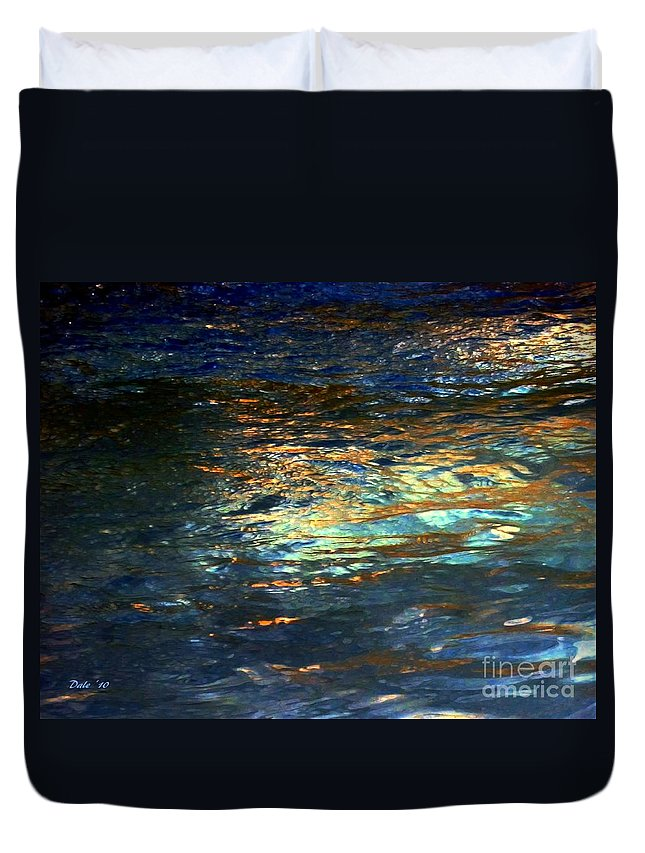 Water Duvet Cover featuring the digital art Light On Water by Dale  Ford