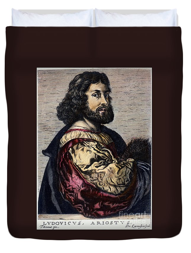 15th Century Duvet Cover featuring the photograph Ludovico Ariosto by Granger