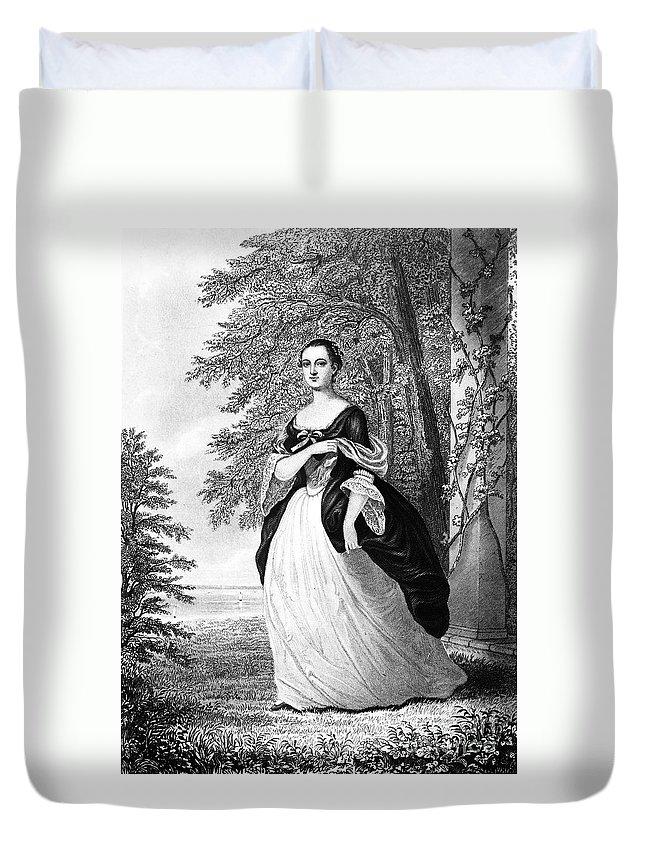 18th Century Duvet Cover featuring the photograph Martha Washington by Granger