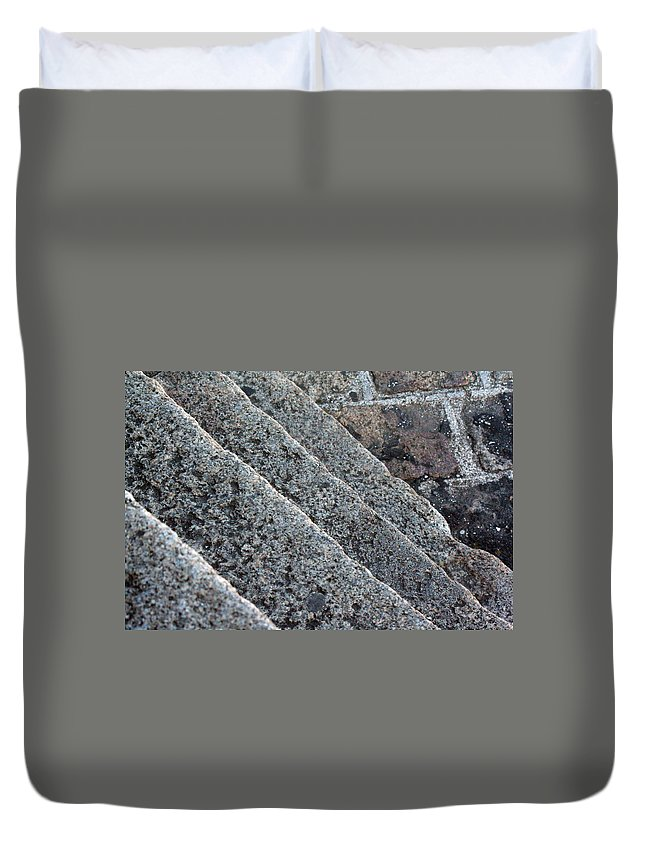 Stone Stairs Duvet Cover featuring the photograph Misc 0006 by Carol Ann Thomas