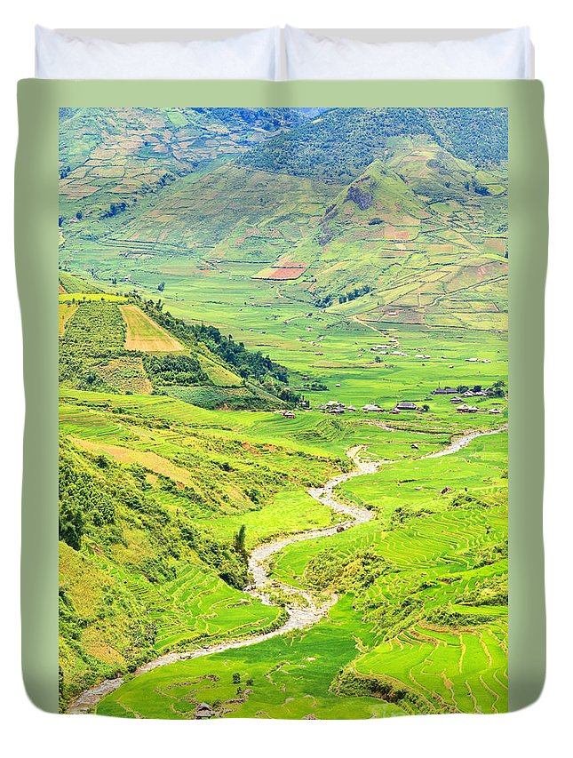 River Duvet Cover featuring the photograph Mountain River by MotHaiBaPhoto Prints