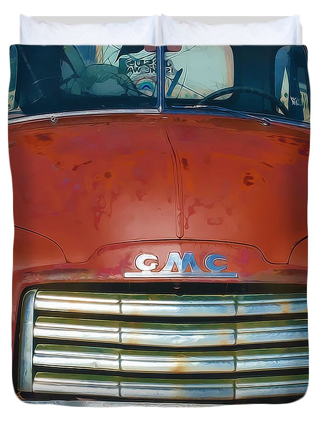 Truck Duvet Cover featuring the photograph Near Pilar by Terry Fiala