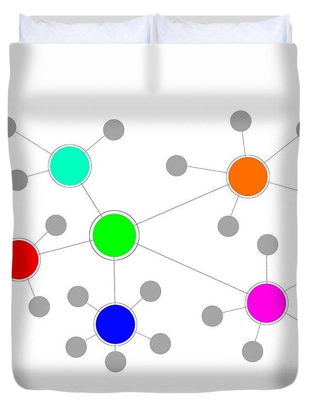 Network Duvet Cover featuring the digital art Network by Henrik Lehnerer