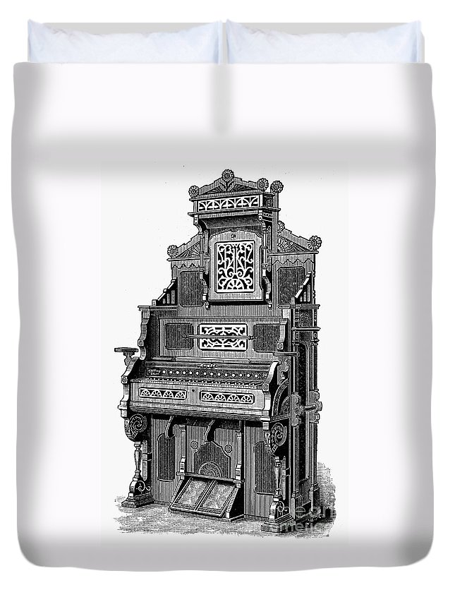 19th Century Duvet Cover featuring the photograph Organ, 19th Century by Granger
